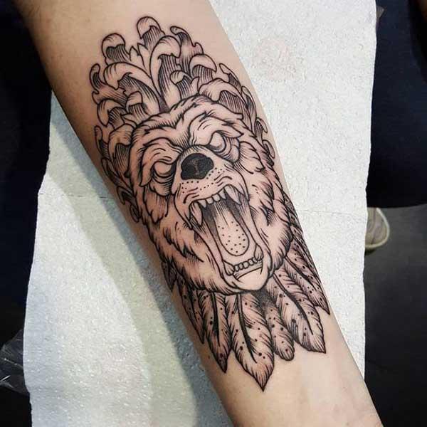 lobo com penas