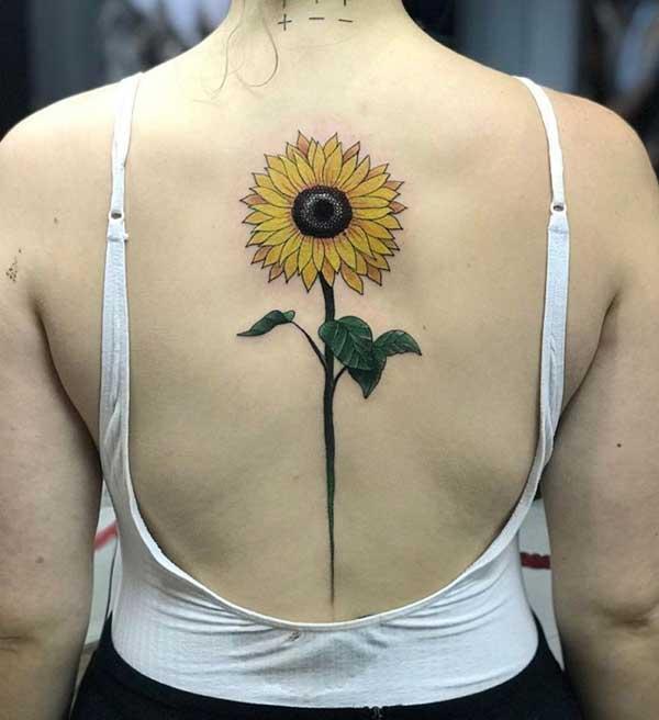 55 Fotos De Tatuagens De Girassol No Ombro Costas Pulso