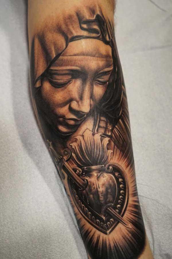 55 Tatuagens De Nossa Senhora De Aparecida E De Fátima