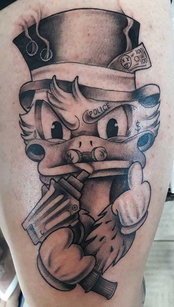 8c49db77dfd1d 66 Tatuagens dos Irmãos Metralhas: Desenhos e Significados!