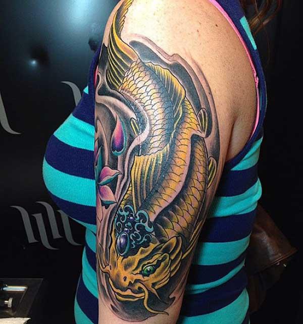 120 Tattoos Lindas De Carpas Peixe Koi Para Homensmulheres