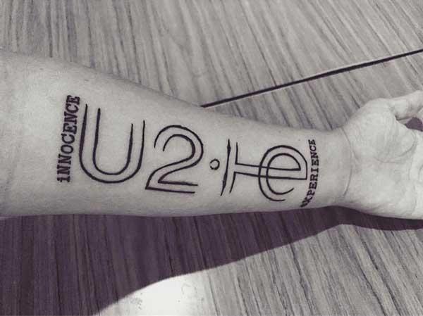 foto de tattoo do u2