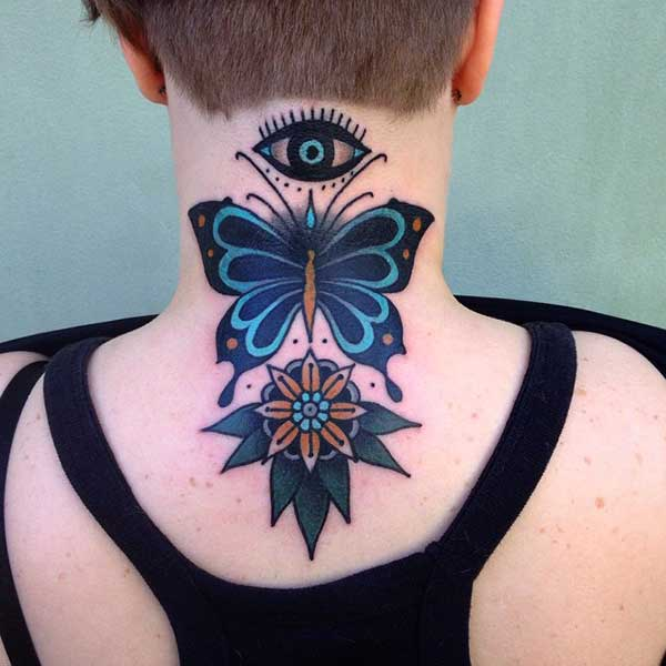 borboleta com flor