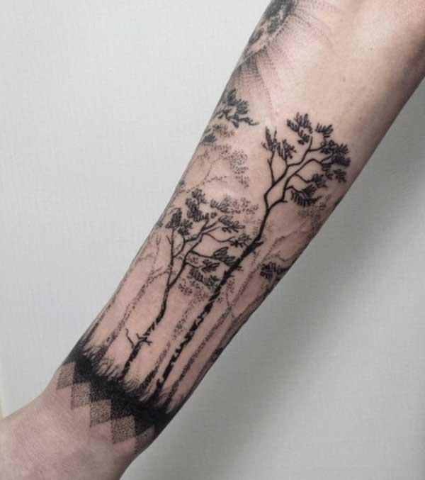 tattoo de árvores