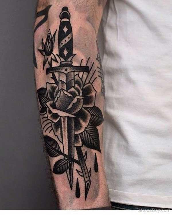 tatuagem de adaga