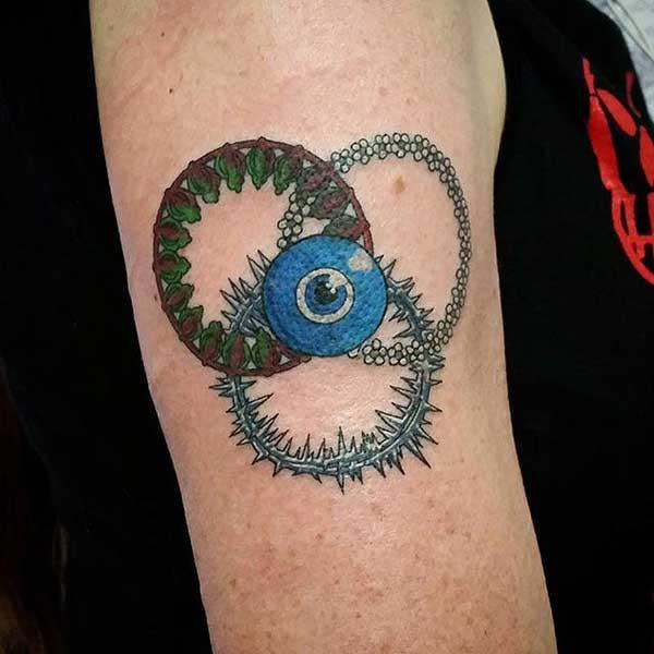 tatuagem de olho grego