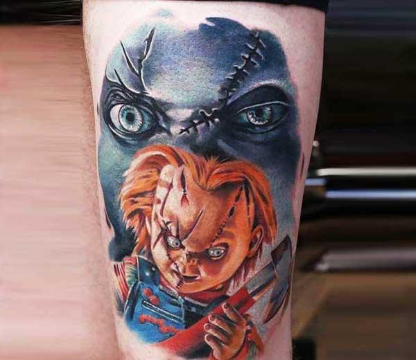 tatuagem do chucky