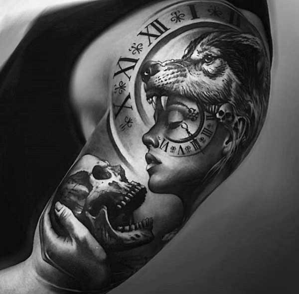 98 Melhores Tatuagens De Lobo Para Tatuar Hoje Desenhos Fotos